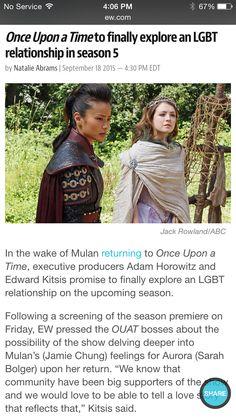 More Mulan and more LBGT!!! <3 I'm so excited!!! :D