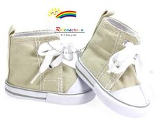 American Girl Doll Shoes Cons Canvas Sneakers Khaki $5.99