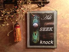 Ask Seek Knock as a summary of Matthew 7 verse by libbywrendesigns, $10.00