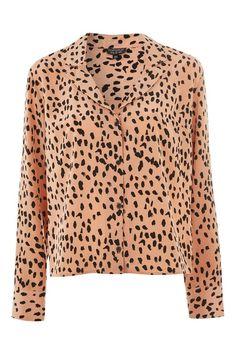 Satin Pyjama Style Shirt - Topshop USA