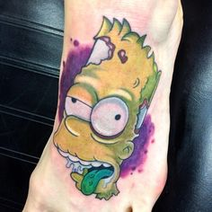 Bart Simpsons Tattoo By bullseye tattoo artist