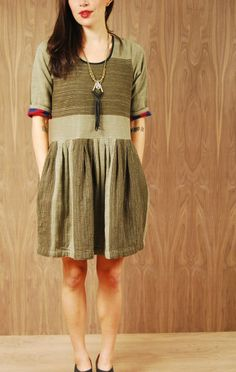 ace and jig rosemary dress in military