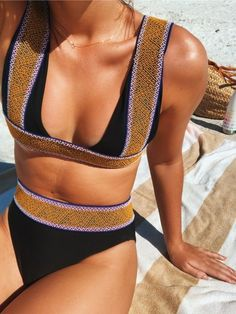 Vacation Swimsuits and Beachwear for women. Womens Affordable bikinis, swim suit cover ups. Summer bikini and beach outfit ideas. Bikini Modells, Triangle Bikini, Summer Suits, Summer Wear, Spring Summer Fashion, Surfergirl Style, Mode Shoes, Inspiration Mode, Fashion Clothes