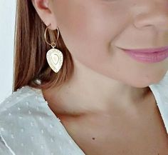 """Items similar to Gold & Silver """"Lagina"""" Boho Hoop Earrings / Gold and Silver plated brass / Gold and Silver plated zamak / Drop Handmade Earrings on Etsy Unique Colors, Silver Plate, Im Not Perfect, Hoop Earrings, Brass, Boho, Trending Outfits, Unique Jewelry, Handmade Gifts"""