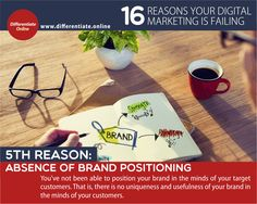 16 Reasons Why Your Digital Marketing is Failing (And What You MUST Do!) - 5). No Brand Positioning