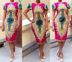 2017 Robe Africaine African Dresses Traditional Dashiki Europe And The New National Totem Geometry Printing Short Sleeve Dress African Inspired Fashion, African Print Fashion, Africa Fashion, Ethnic Fashion, Fashion Women, Fashion Ideas, Men's Fashion, African Attire, African Wear
