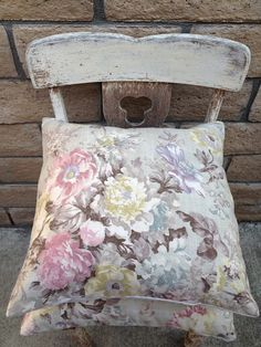 """Lovely Lavender Grey Pink Ivory Rose Pillow Cover 20"""" on Etsy, $22.50"""