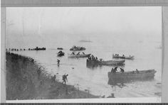 WW1 Australian 2nd Brigade landing at Gallipoli Peninsula, Turkey  ....Library of Victoria