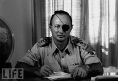 There are many for military uniforms.   This is apparently  Gen. Moshe Dayan who was some bigshot of the Mossad before.
