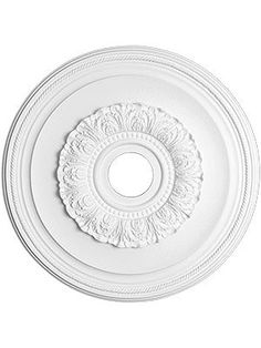 "dining room 16-$41 / 23-$64 / 29.5"" Ceiling Medallions. Ansley 29 1/2"" Ceiling Medallion With 4"" Center Hole  $84"