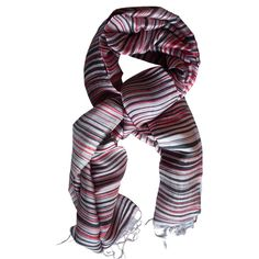 Silk Scarf Erewan red-brown