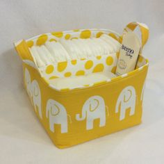 LG Diaper Caddy 10x10x7 Fabric Bin Fabric Storage by Creat4usKids, $42.00