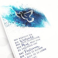 Yesterday a confirmation card was created. I wish you a nice Saturday Word Line, Confirmation Cards, Dance Quotes, Paper Design, Hand Lettering, Wish, Stampin Up, Stencils, Card Making