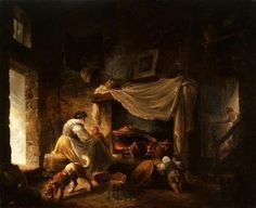 Hubert Robert, La cuisine italienne, huile sur toile, H. 60 ; L. 74 cm., Varsovie, Musée nationale, inv. M.Ob.913. bellamaniera   La Cuisine italienne d'Hubert Robert