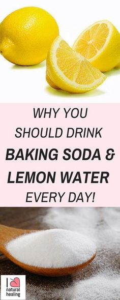Cholesterol Cure - You may have heard of the benefits of drinking lemon juice with a little baking soda mixed in. Read more to find out all the health benefits of baking soda and lemon water. - The One Food Cholesterol Cure Baking Soda Water, Baking Soda And Lemon, Baking Soda Shampoo, Baking Soda Uses, Baking Soda Detox Drink, Drinking Baking Soda, Soda Drink, Drinking Lemon Juice, Lemon Drink