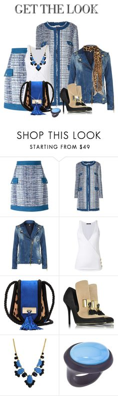 """""""Office or Nightclub"""" by shamrockclover ❤ liked on Polyvore featuring Pierre Balmain, Balmain, Kate Spade and Yves Saint Laurent"""