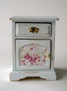 miniature night table  #doll #house #shabby #chic
