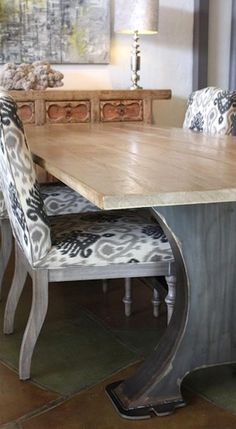 Roberto Industrial Dining Table and Winter Dining Chair