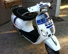 R2-D2 Scooter Rides for Princess Vespa not Leia