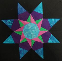 12 inch quilt blocks squares | Nifty Fifty Quilters of America Carol Doak's Paper-pieced Star Blocks