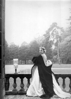 Givenchy gown. Photographed by Henry Clarke, 1952.