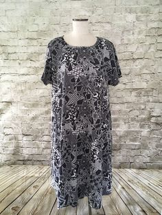 LuLaRoe Carly Dress Plus 3XL Swing Dress Front Pocket Abstract Star Print NWOT  | eBay