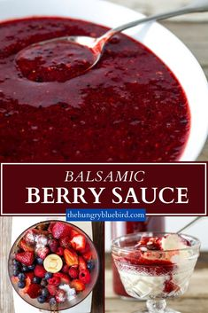 Fresh summer mixed berry sauce with balsamic vinegar for ice cream, cheesecake, pancakes, desserts and so much more. #thehungrybluebird #balsamicberrysauce #mixedberrysauce #easyrecipe #fresh #homemade #howtomakeberrysauce #summerdesserts Easy Clean Eating Recipes, Clean Eating For Beginners, Clean Eating Dinner, Fun Cooking, Cooking Recipes, Best Greek Yogurt, Homemade Spice Blends, Berry Sauce, Mixed Berries