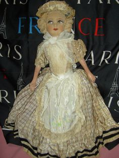 Labeled French Antique Art Deco Silk Face Boudoir Bed Doll Bisque Arms Legs   eBay