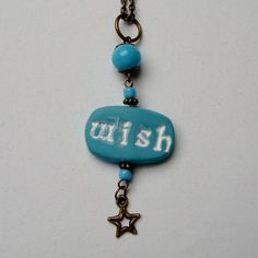 Wish Upon A Star Pendant by newcreationsjewelry on Etsy, £10.99
