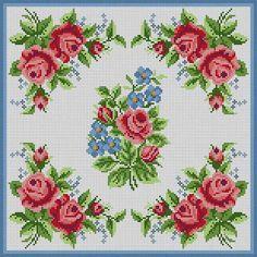Corner Roses Pillow