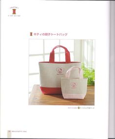 Hello Kitty hand embroidery bag pattern by LibraryPatterns