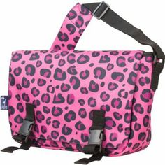 Wildkin Jumpstart Messenger Bag, Pink Leopard Wildkin. $25.96