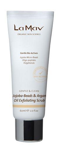 La Mav Jojoba-Beads & Argan Oil Exfoliating Scrub - Gentle & Clean