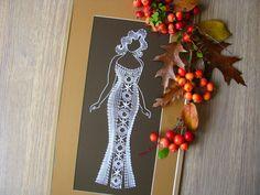 Lace Art, Bobbin Lace, Collar Necklace, Crochet, Clock, Drop Earrings, Embroidery, Inspiration, Target