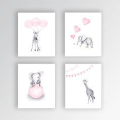 Image result for animal watercolor for nursery