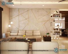 Best Online Interior Design Services in India Living Room Wall Designs, Living Room Partition Design, Room Partition Designs, Living Room Sofa Design, Bedroom Furniture Design, Drawing Room Interior Design, Home Room Design, Drawing Room Wall Design, Hall Interior