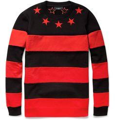 2c57e743e2e Givenchy Striped Cotton-Jersey Sweater White Casual