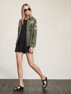 Regular army jackets are great but this one is probably better. The Sergeant Trouble Jacket is vintage army jacket that we hand-pick and spruce up. We even threw on some custom patches just for you. https://www.thereformation.com/products/sergeant-trouble-jacket-army-green?utm_source=pinterest&utm_medium=organic&utm_campaign=PinterestOwnedPins