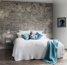 great wallpaper collection by the swedish mr perswall - Brick Wallpaper Bedroom Ideas