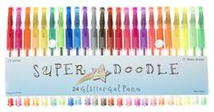 Super Doodle - Glitter Gel Pens - 24 Glitter Colors - Pre... https://www.amazon.com/dp/B01A91KMJS/ref=cm_sw_r_pi_dp_x_tU2Iyb998TBE6