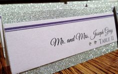 Sparkly classy place cards