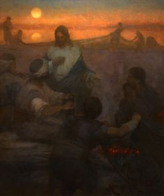 """""""Christ and the Fishermen"""" by J. Kirk Richards"""