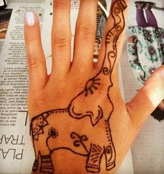 My friend did this herself, its a henna tatoo