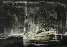 "Thorsten Dittrich,""Die Entscheidung"", Painting, oil, drawing, pigm. shellac, collage, silver leaf on cardboard, The Decision"