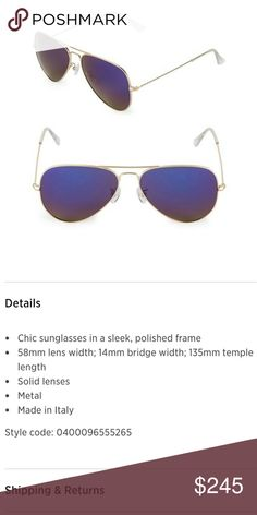 6ed0eb077d8 I just added this listing on Poshmark  New UNISEX Aviator Sunglasses .
