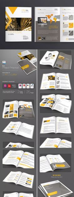 Web-design Proposal Template InDesign INDD - A4 and US Letter Size ...