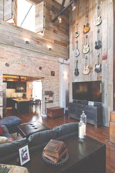 Love the brick wall. Definitely want red brick in my house.