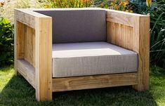 Square armchair