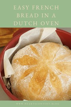 Easy French Bread in a dutch oven. You don't need to wait overnight to have homemade bread in your dutch oven. Dutch Oven Bread, Dutch Oven Recipes, Easy Bread Recipes, French Bread Recipes, Easy Homemade Bread, Bread Oven, Easiest Bread Recipe Ever, Sauce Pizza, Artisan Bread