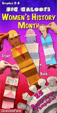 A wonderful hands-on activity to celebrate the lives of famous women. A perfect project for Women's History Month or any month. 25 ready-to-go, easy-to-color templates feature a variety of women from all walks of life, from different time periods. A great
